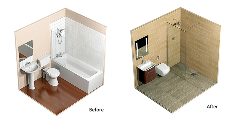before after 3D Design Service and Space Saving Solutions
